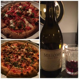 Meiomi Pinot Noir with Sicilian Pizza and Sachin Sethi Pizza