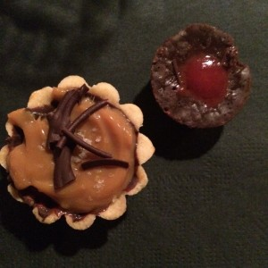 Delectable desserts - Mini Chocolate Italiano and Mini Dolce de Leche Tart
