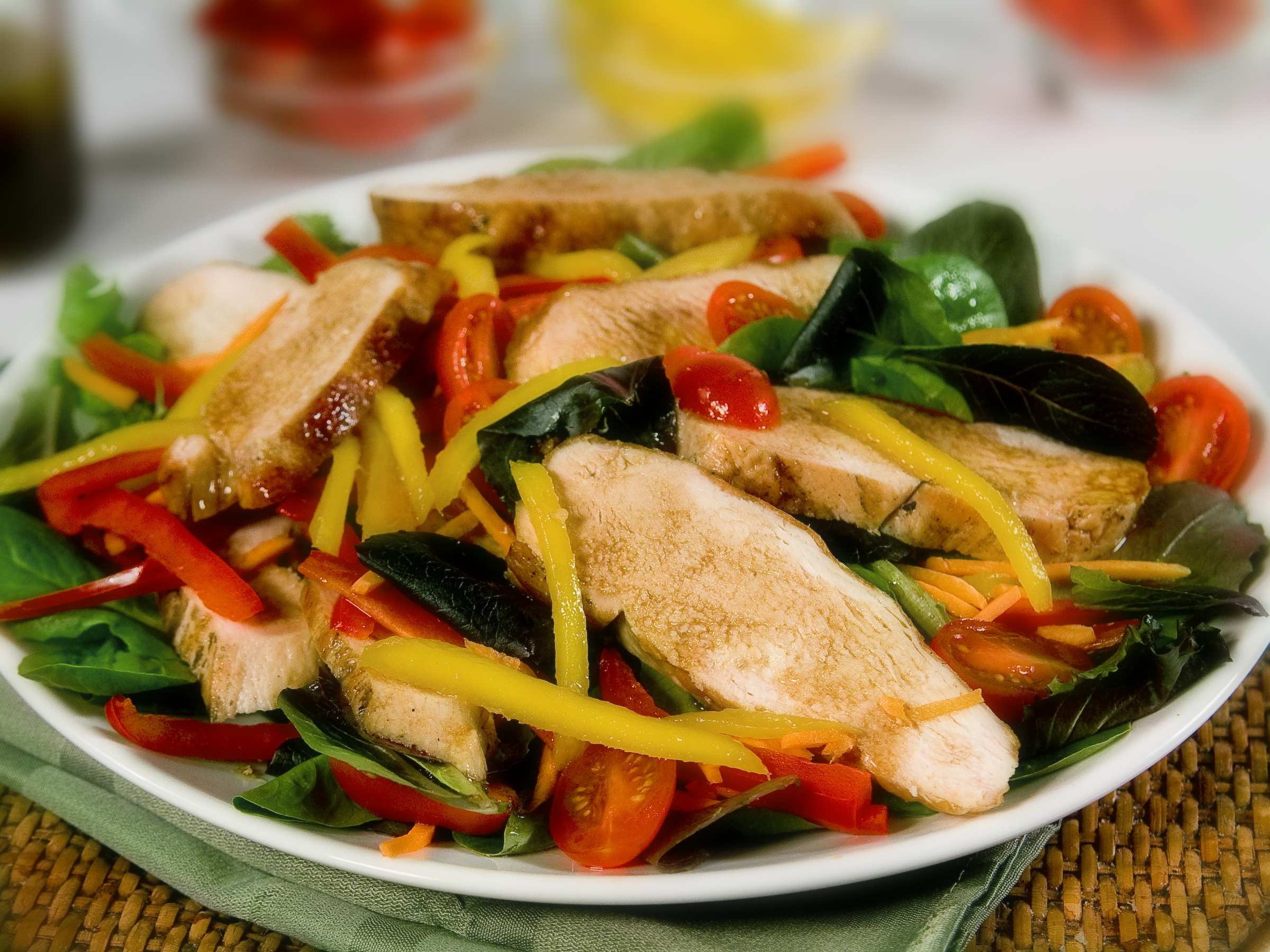 Mango Salad with Grilled Chicken  | Just Wine