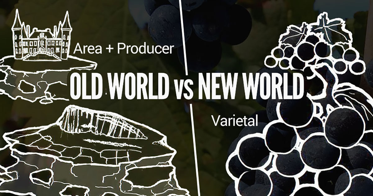 old world versus new world the Geographically speaking, the old world is customarily assumed to mean greater europe -- and the new world the rest, namely the wine-producing nations of the southern hemisphere plus the wine-.