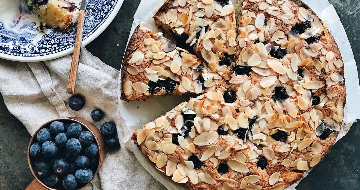 Delicious Blueberry Almond Cake Recipe |