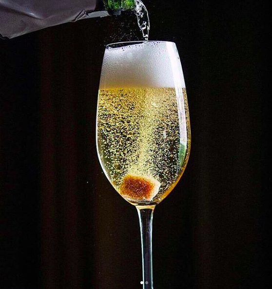 champagne cocktails, celebrate, special occasion, Christmas, holidays