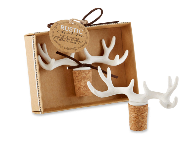 Kate Aspen® Rustic Charm Antler Bottle Stopper