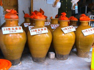 Large-Vats-of-Baijiu-Being-Sold-in-the-Market