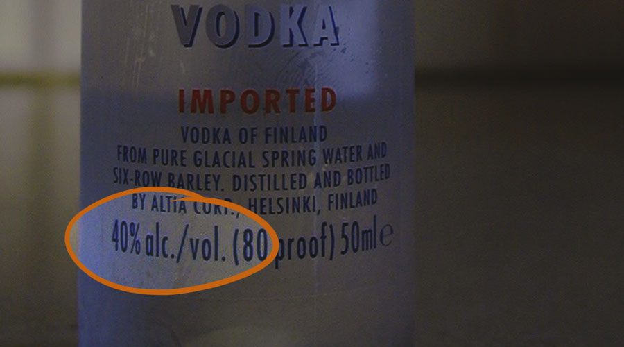 alcohol content by volume
