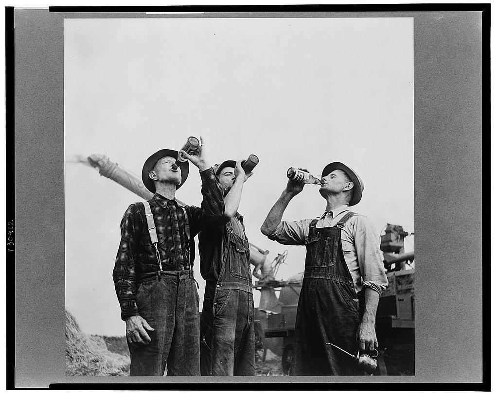 Workers-Drinking-Beer-in-the-Field