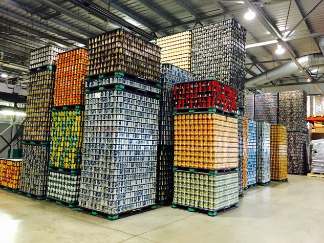 Big Rock Brewery Beer Stacked High
