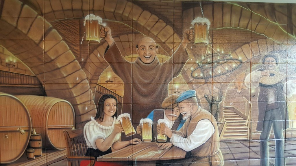 Troubled Monk Tap Room Mural