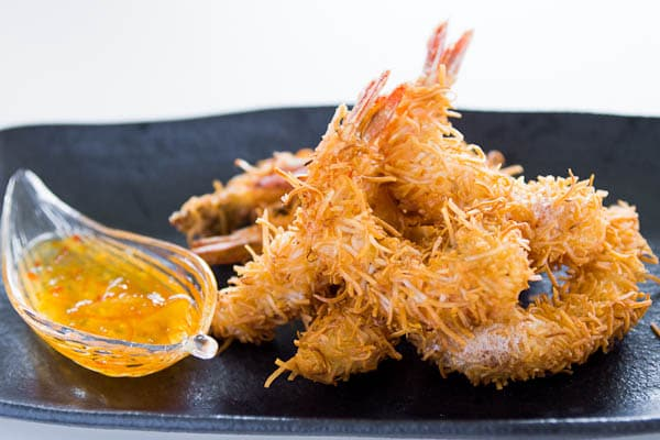 Beat The Heat Beer Battered Coconut Shrimp with Sweet & Tangy Sauce