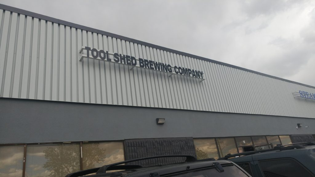 Entrance to Tool Shed Brewing Company