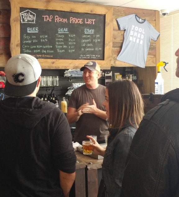 Graham, co-owner of Tool Shed Brewery Telling a Story