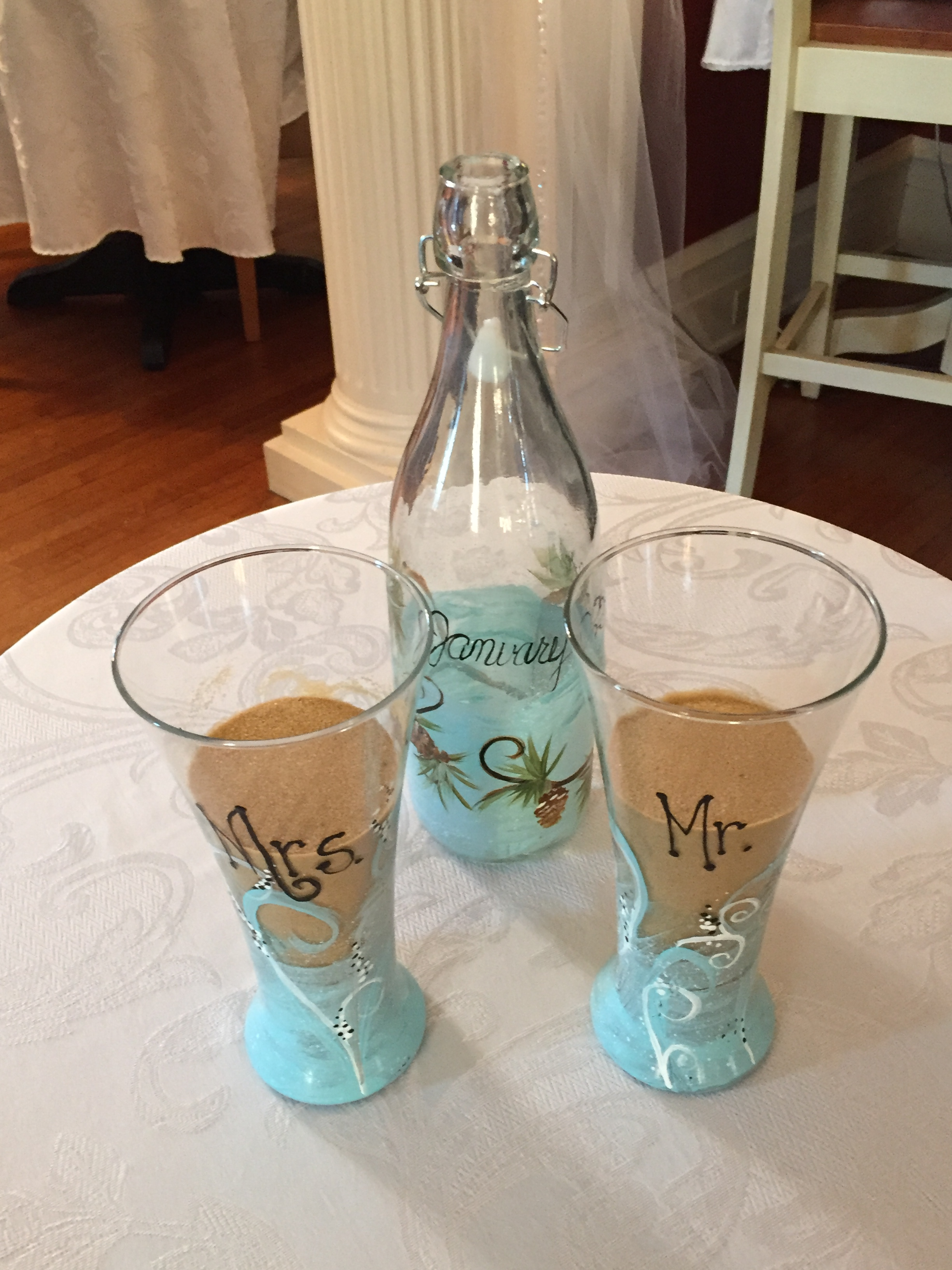 Using A Wine Bottle For Sand Ceremony