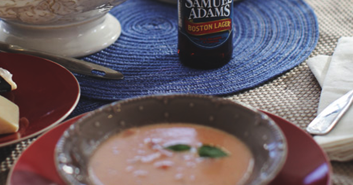 Red Eye Chilled Tomato Soup with Beer