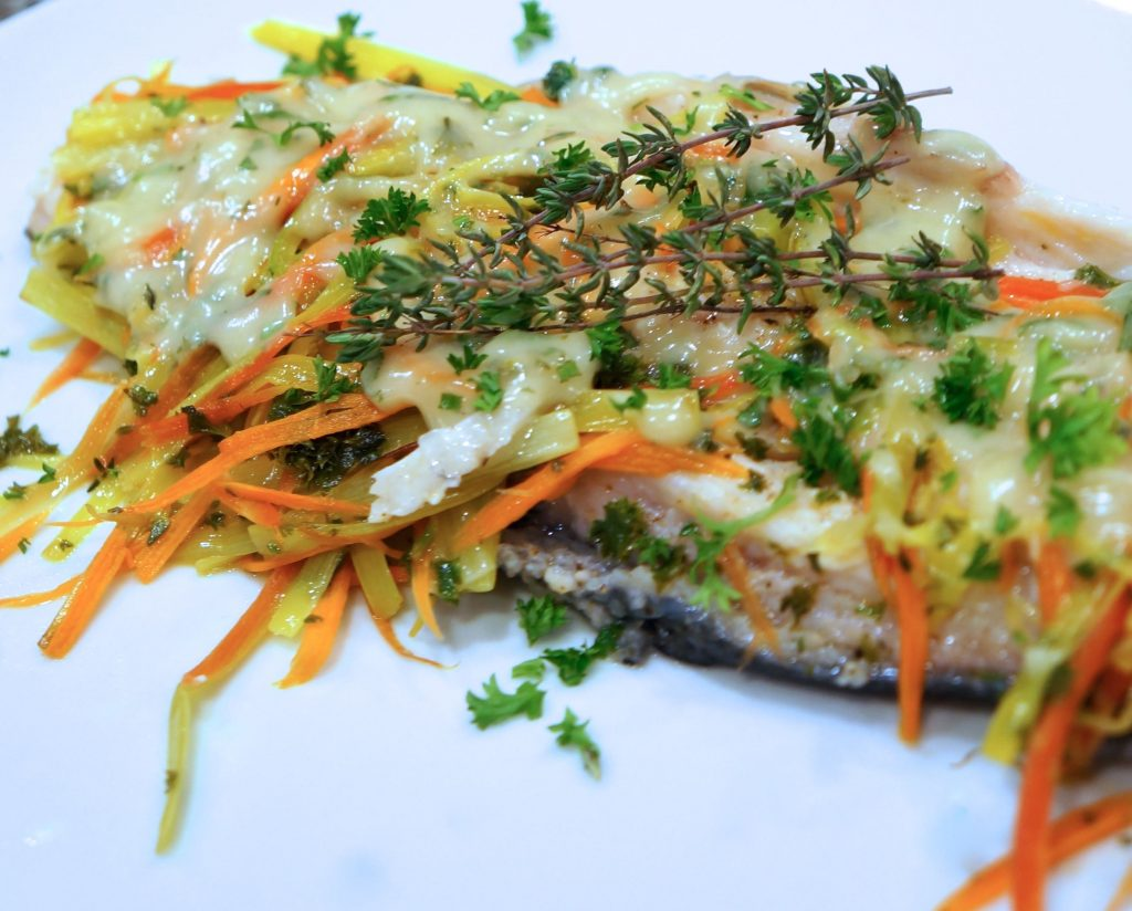 Riesling-Poached-Trout