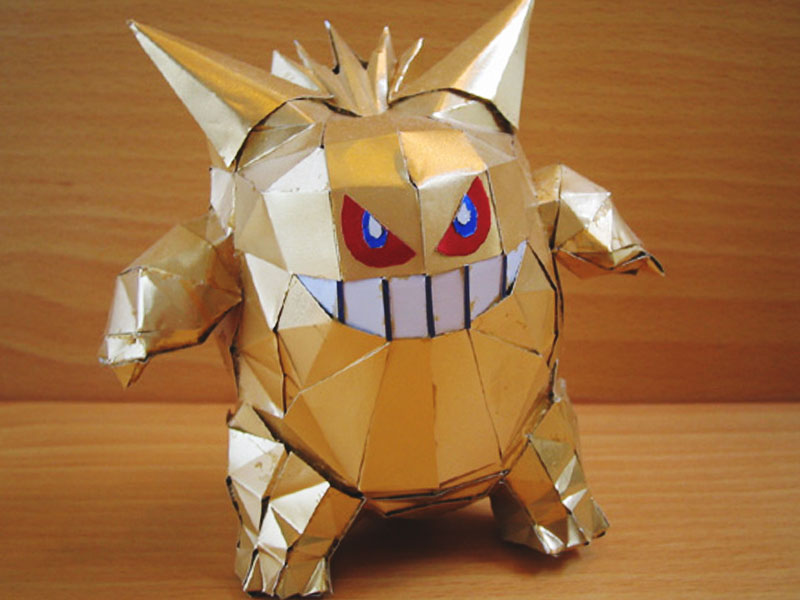 aluminum beer can gold gengar by makaon japanese artist