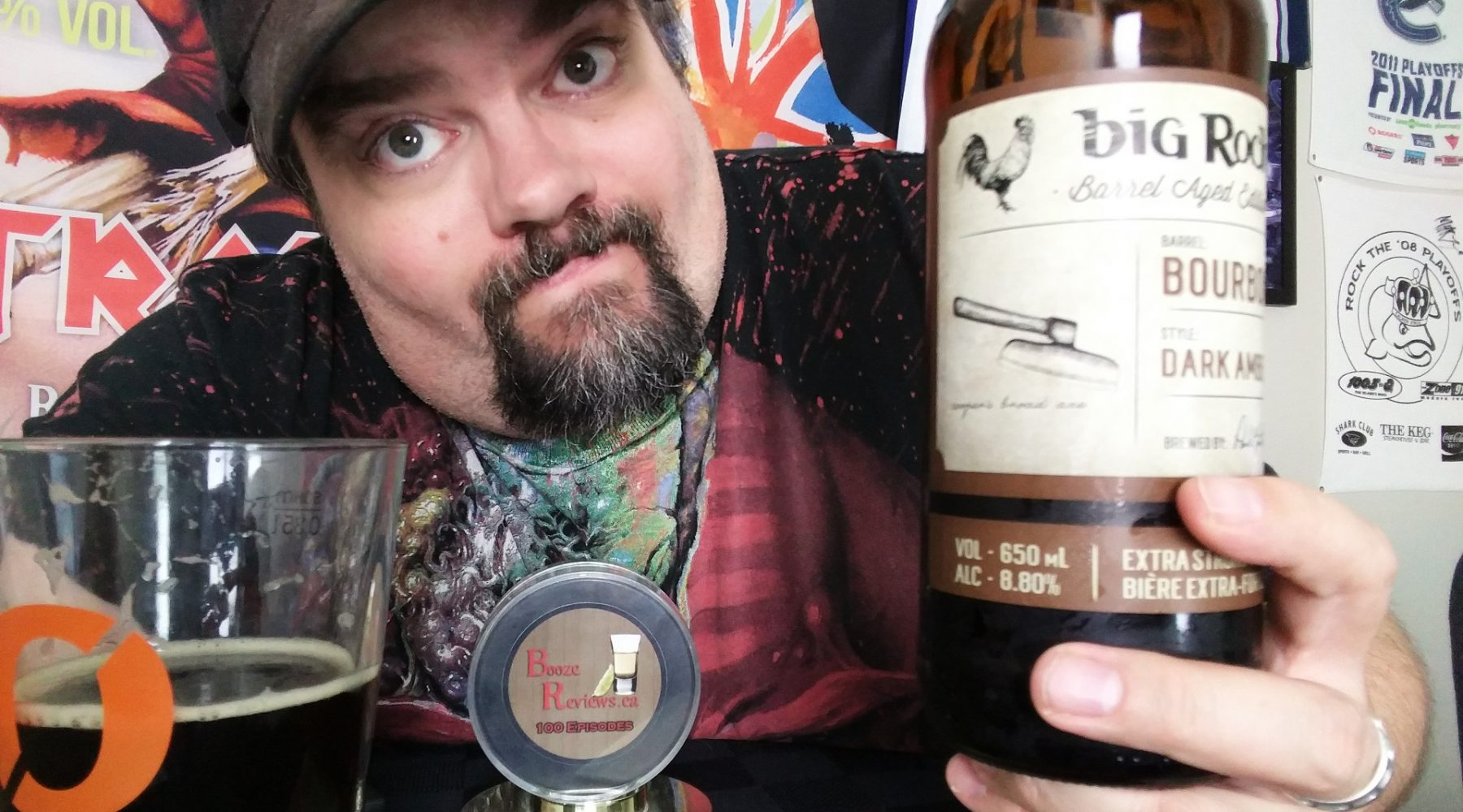 VIDEO: Bourbon Barrel Aged Dark Amber by Big Rock Brewery Beer Review – Calgary, AB