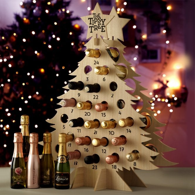 Wine Bottle Christmas Tree Diy.A Wine Drinker S Holiday Delight Wine Advent Cale Just