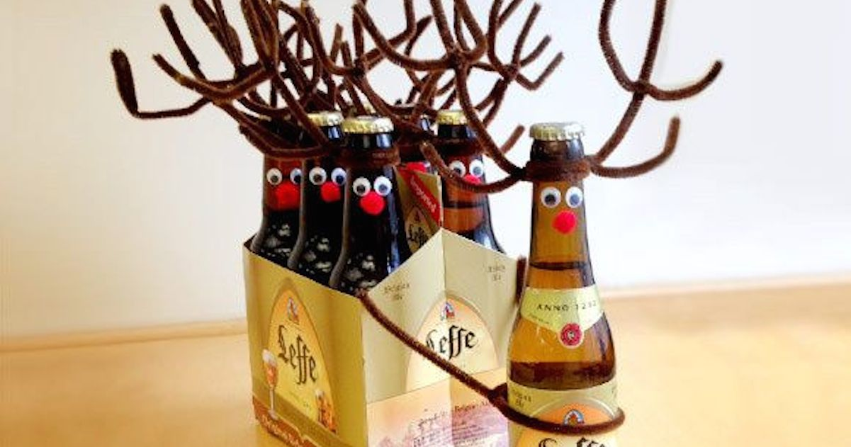 Christmas Beer Crafts – How To Make A Reinbeer