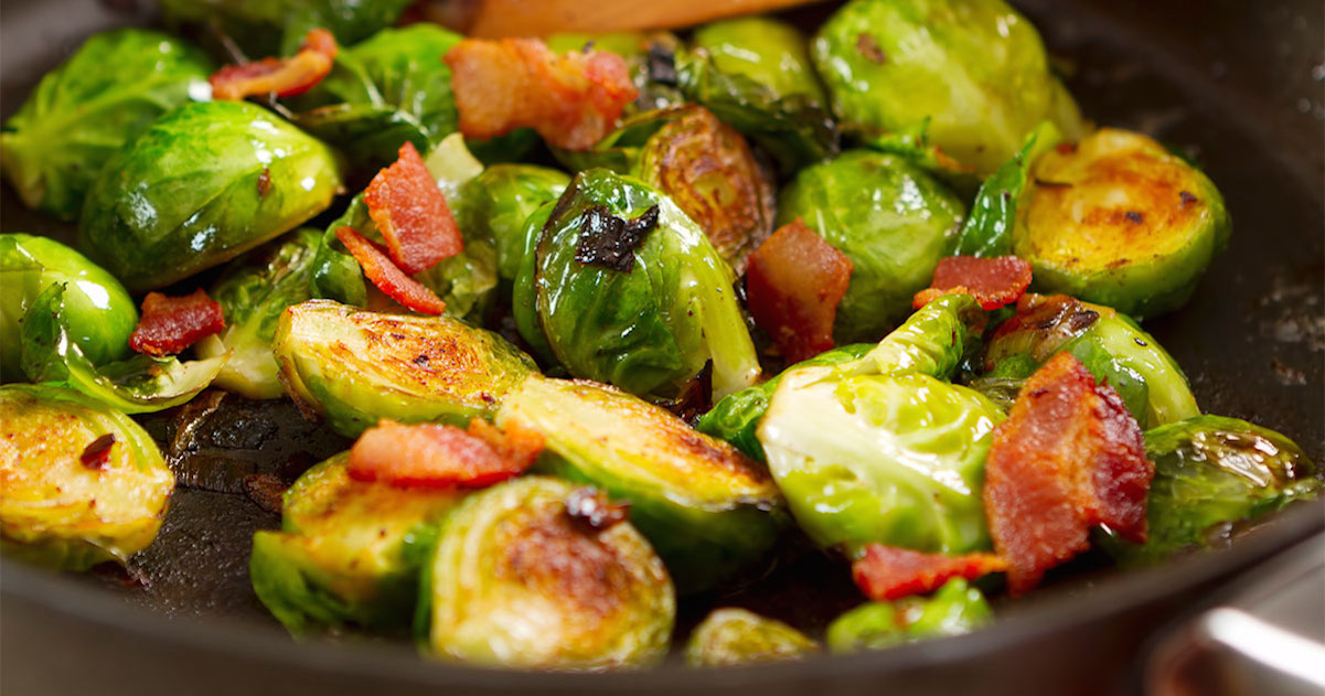 Beer Braised Brussels Sprouts