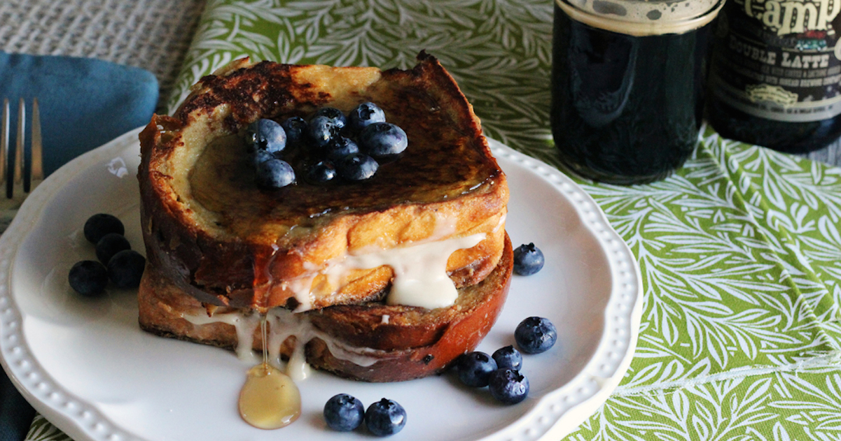 Stout French Toast With Bourbon Cream Cheese Frosting