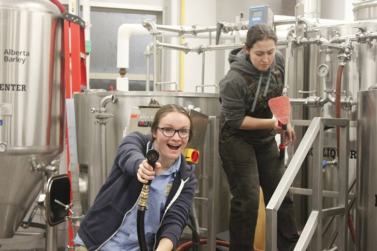 Jenna & Becca at Olds College Big Boots Brew