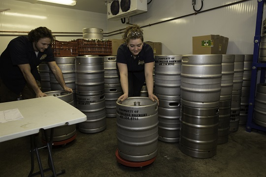 OC Brewery Moving Kegs