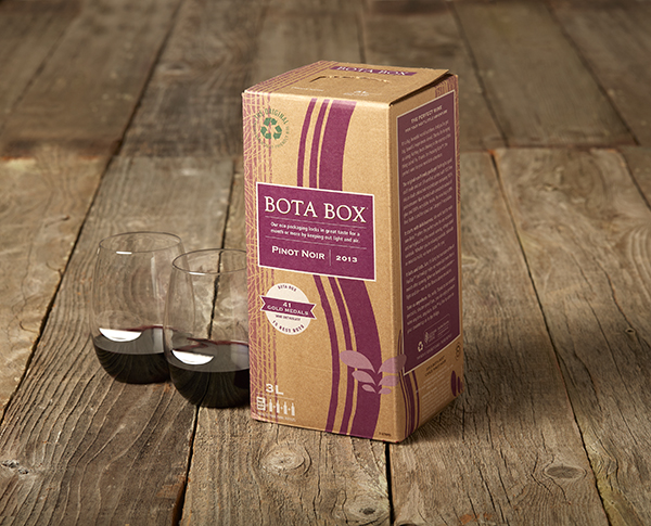 Bota Box red wine. 3L box of wine.