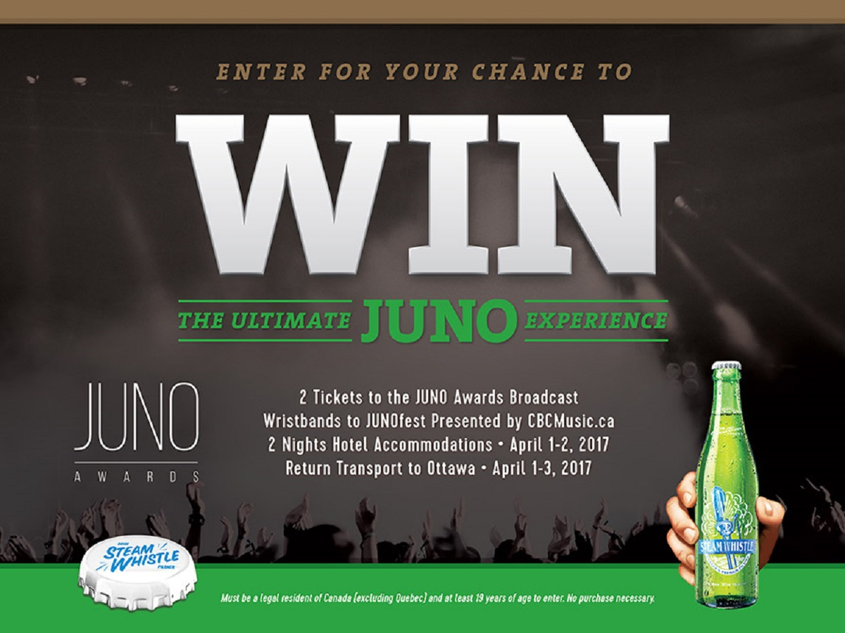 "Steam Whistle's ""Ultimate JUNO Experience"" Contest"