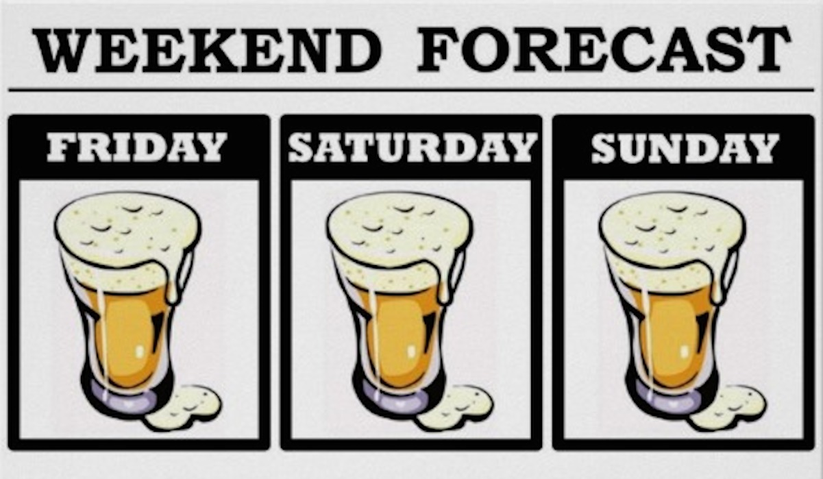 Weekend Forecast: Expect Heavy Drinking