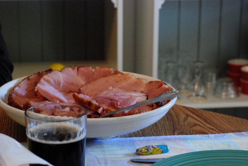 Dark Beer with Ham