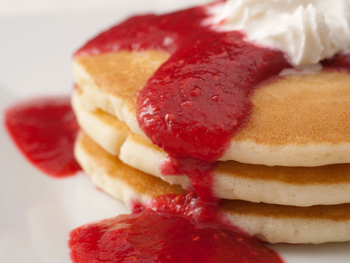 Raspberry Wheat Ale Pancakes