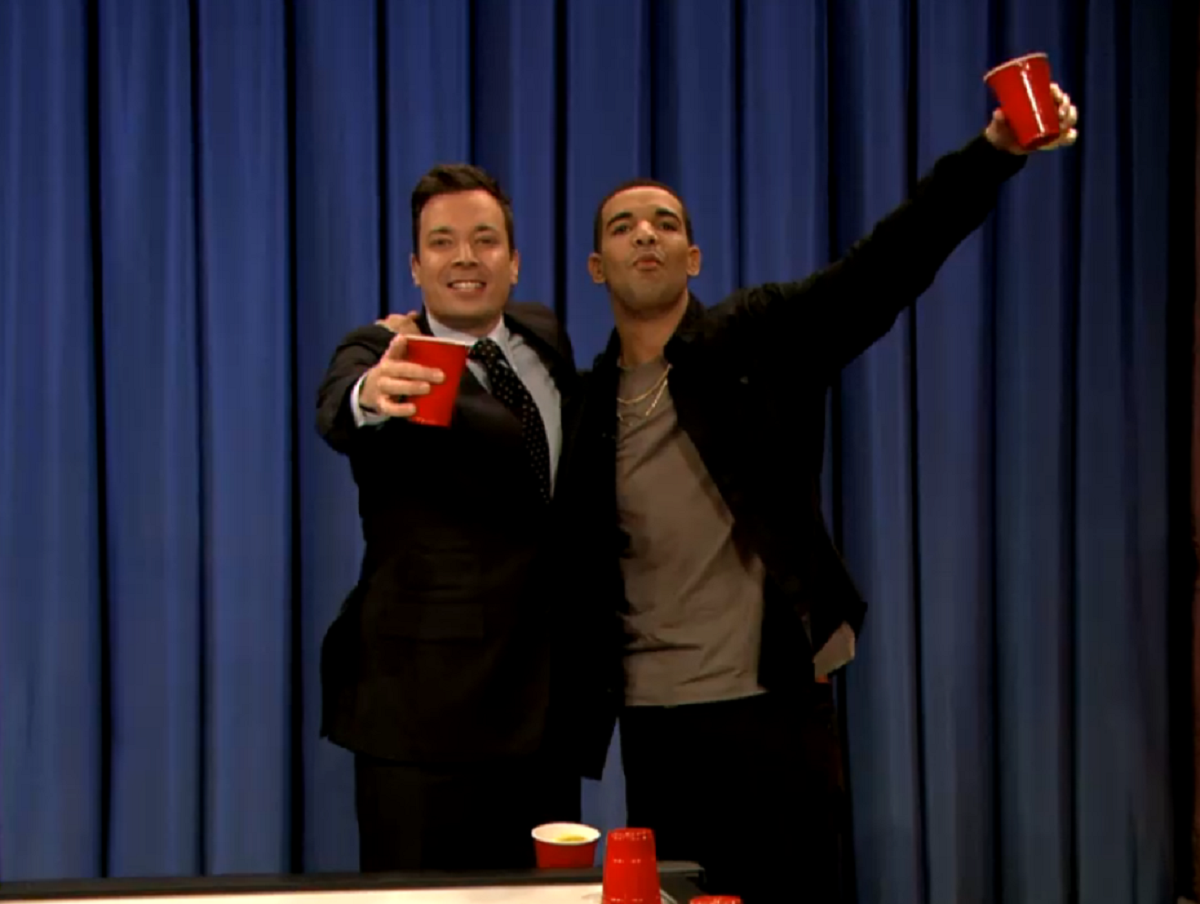VIDEO: Beer Hockey With Drake and Jimmy Fallon