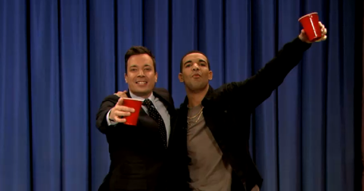 VIDEO: Beer Hockey With Drake with Jimmy Fallon