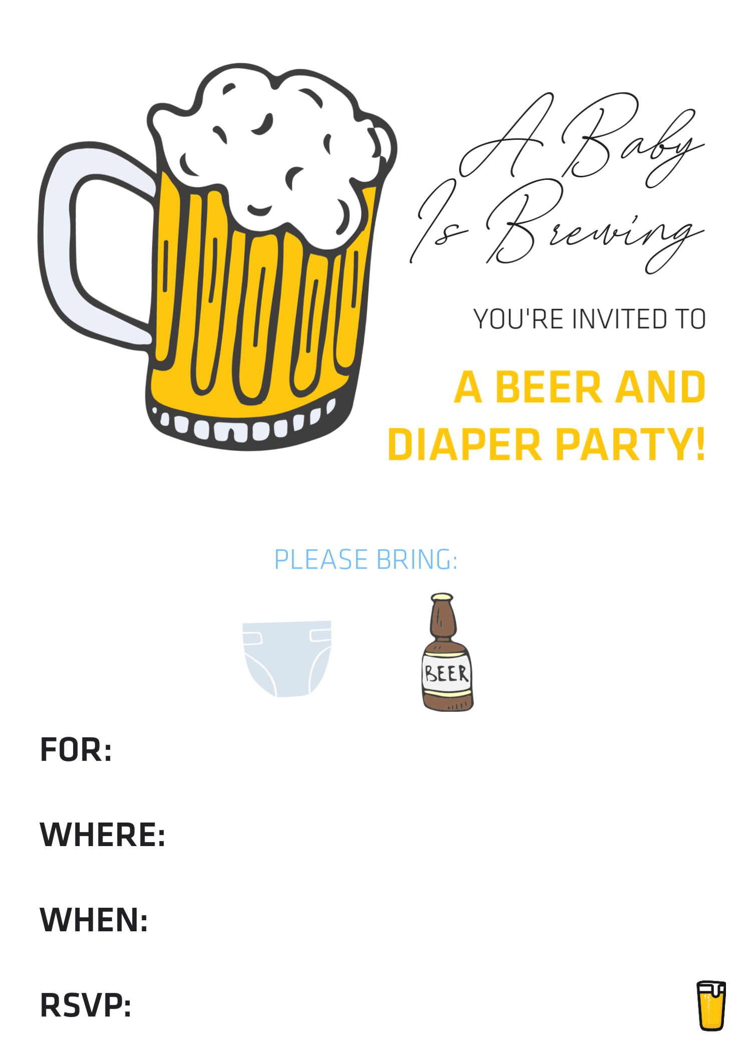 how to throw a beer diaper party the best dad baby shower ideas