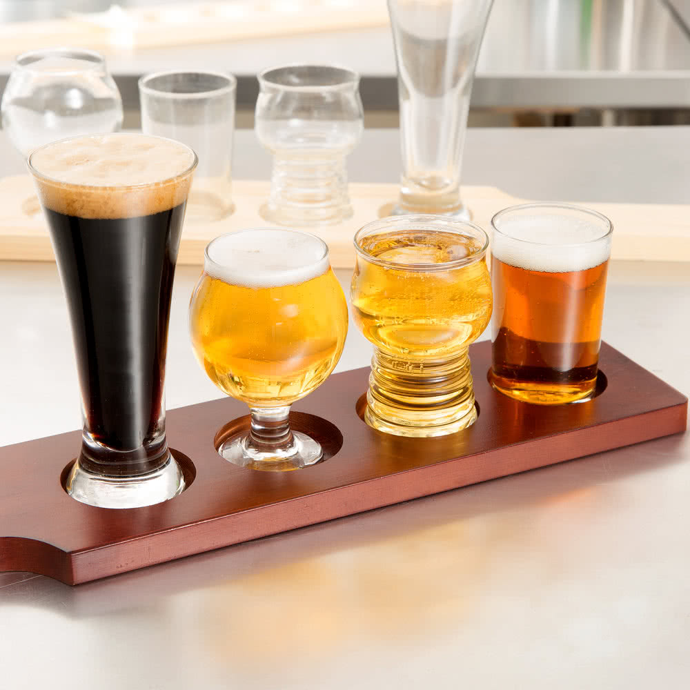 Beer Flight with Proper Glasses for Style