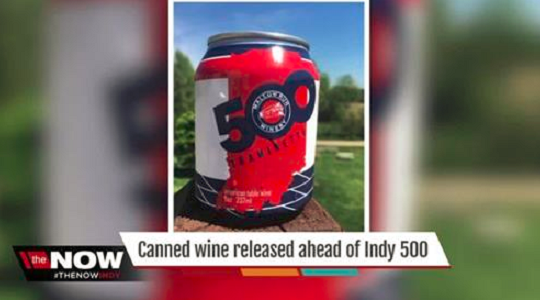 VIDEO: Mallow Run Winery Sells Indy 500-Edition Wine Cans for Race Day | Just Wine
