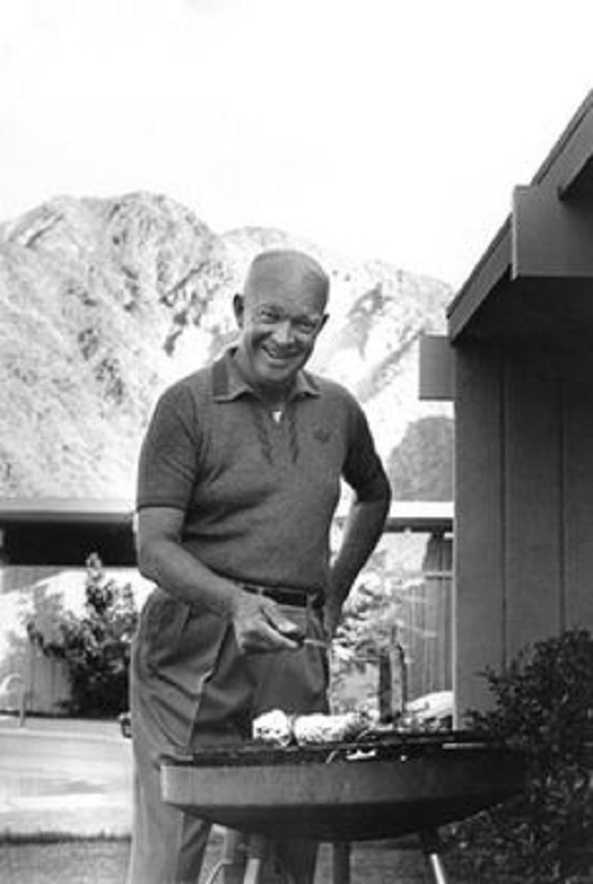 Dwight D. Eisenhower BBQing