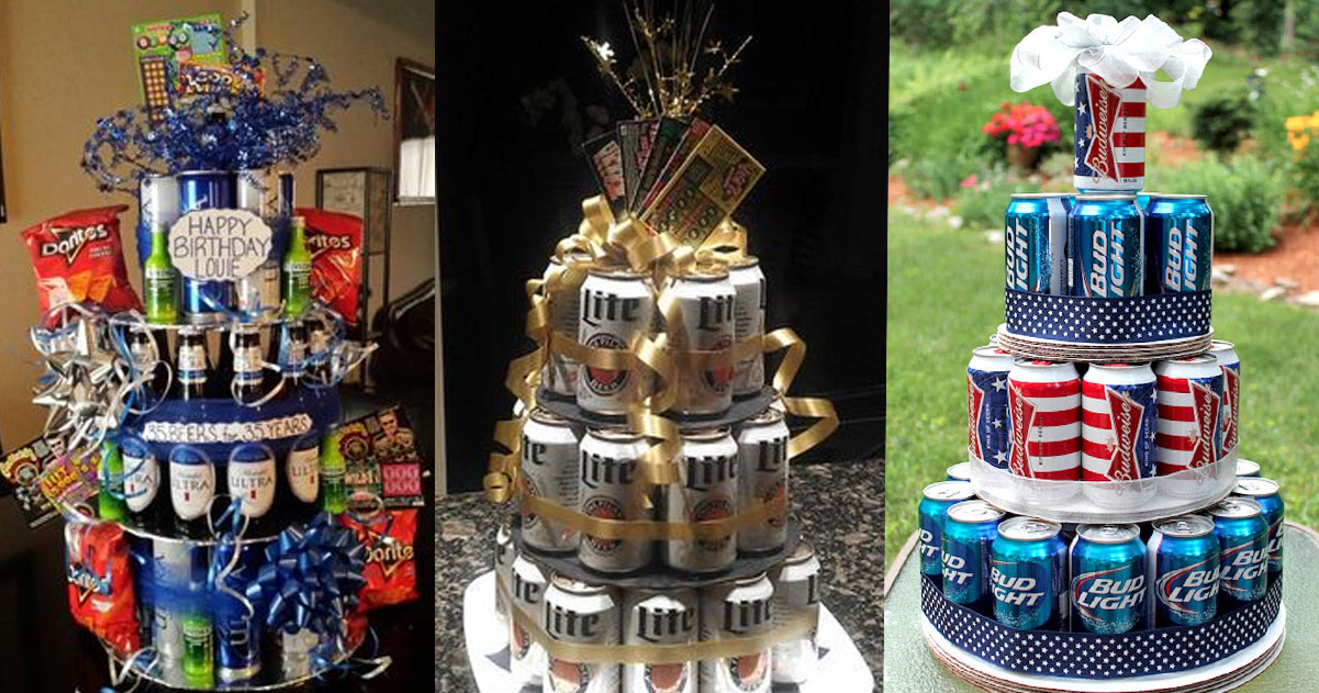 Admirable Diy Beer Can Cake How To Make An Easy Beer Can Cake Personalised Birthday Cards Paralily Jamesorg
