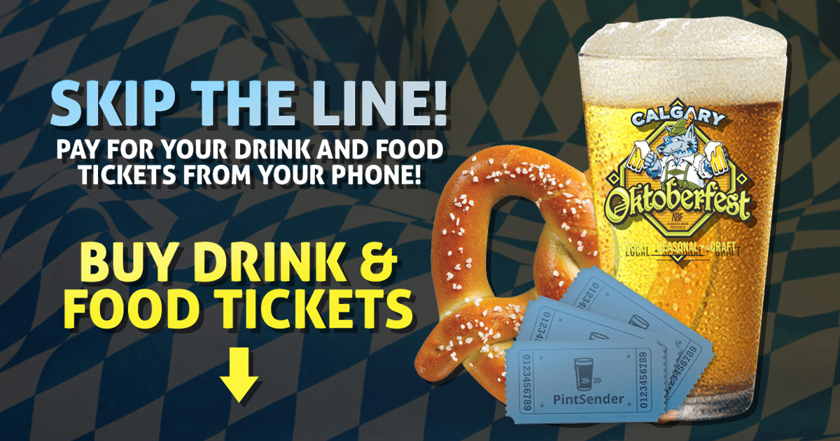 Purchase #yycoktoberfest Drink Tickets Online