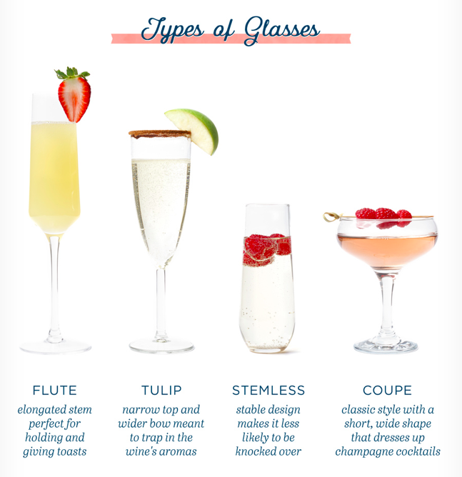 sparkling wine glasses, stemware