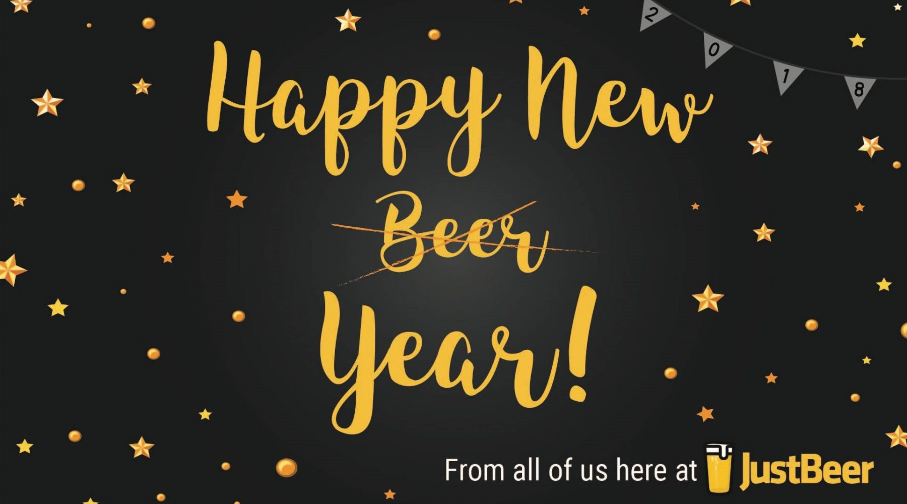 happy new year from justbeer