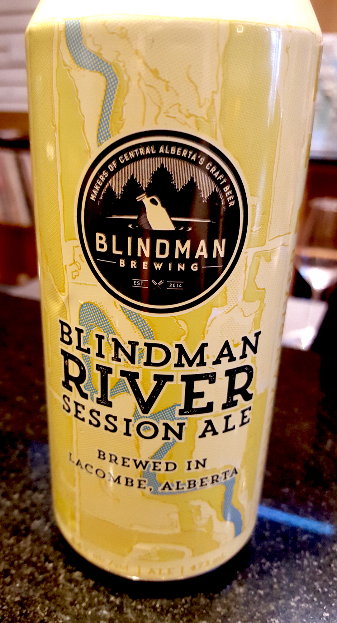 Blindman River Brewing Session Ale. Lacombe, AB.