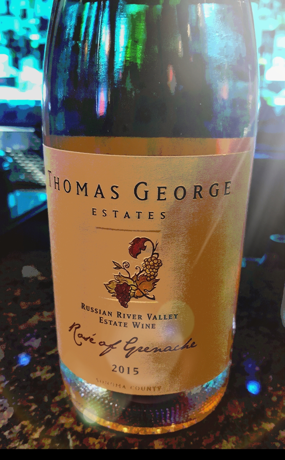 TGE. Thomas George Estate Rosé of Grenache, California wine, selection,