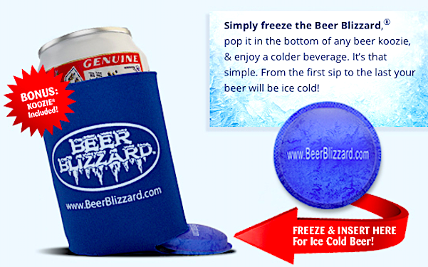 Beer Koozie Beer Blizzard Plastic Ice cube