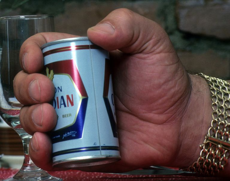 Professional Wrestling: Closeup portrait of hand of Andre The Giant Roussimhoff holding Molson Canadian beer can during photo shoot at his Le Picher restaurant. Montreal, Canada 8/5/1981 CREDIT: Stephen Green-Armytage (Photo by Stephen Green-Armytage /Sports Illustrated/Getty Images) (Set Number: X25898 TK1 R11 F13 )