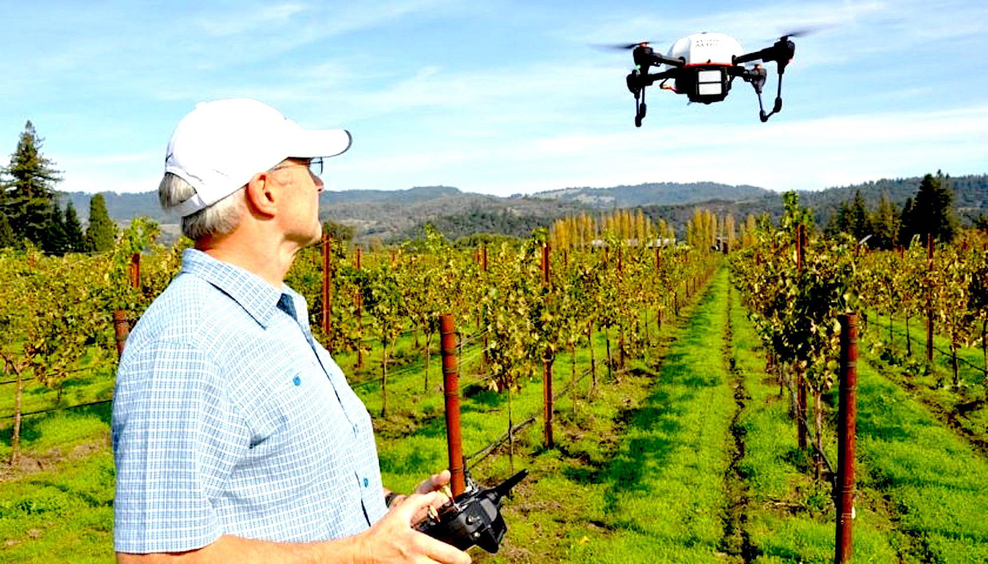 Image Source: uavexpertnews.com. Drones take to the skies over Napa Valley  | Just Wine
