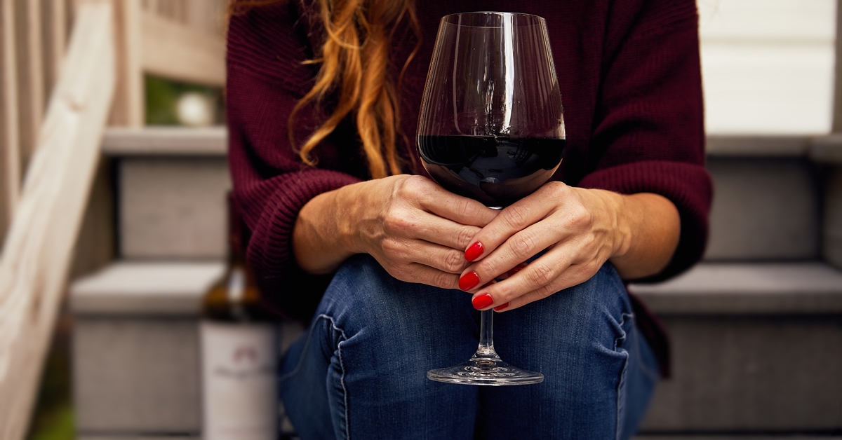 Cozy Sweaters and Fall Wine  | Just Wine
