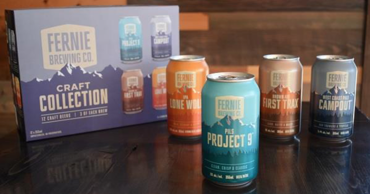 Fernie Brewing Co. Launches New Beer Cans With A Fresh, Modern Look