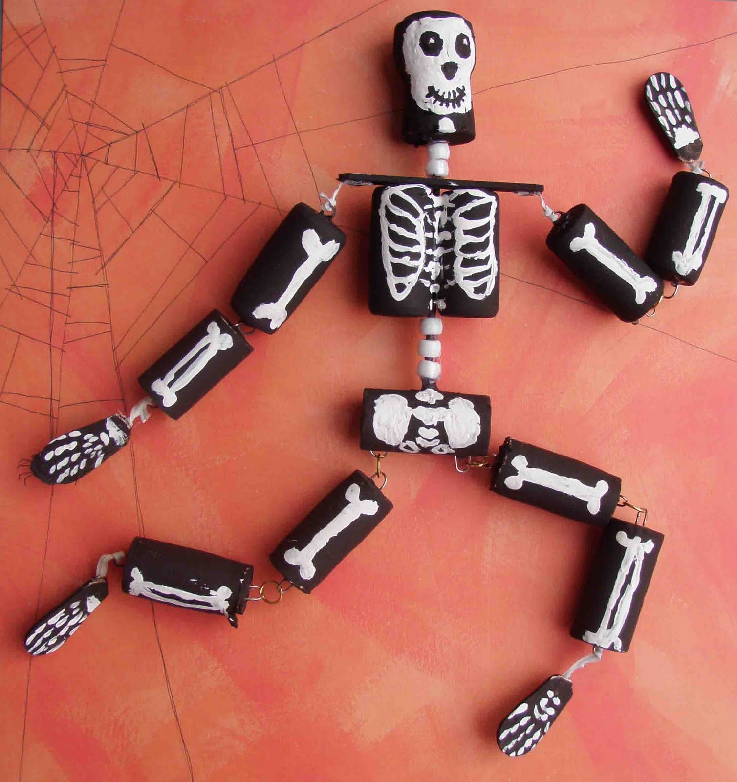 halloween skeleton cork craft-2