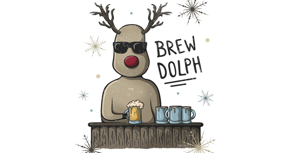 brewdolph the red nosed reinbeer song lyrics
